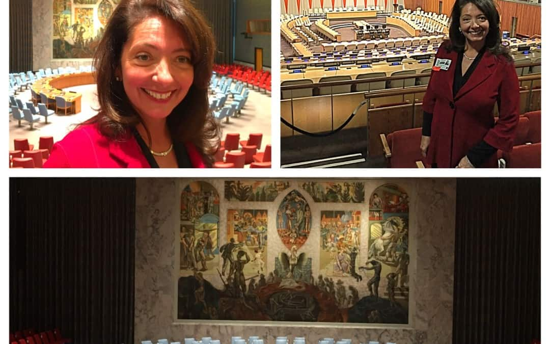Global Keynote Speaker Holly Dowling visits The United Nations with #EBW2020